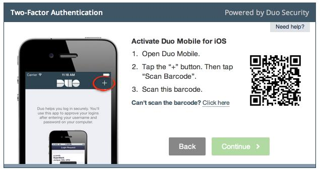 5. Activate Duo Mobile Activating the application will link it to your account so you can use it for authentication.