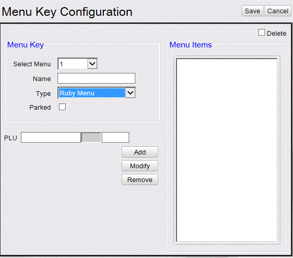 Commander Site Controller User Reference Field/Button Select Menu Delete Name Allowable Value/Function Select the menu key number.