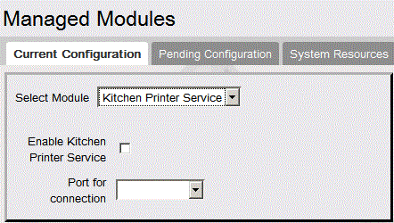 Other Configuration GSM Click Advanced Settings for each GSM port to assign the port Kitchen Printer