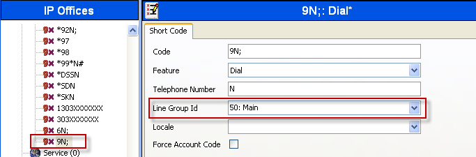 7.5. Create Outgoing Routing Entry for Calls to Cisco UCM In the left pane, under 9NShort Codes, by default there should be a short code for 9N that routes calls to a default ARS group called Main.