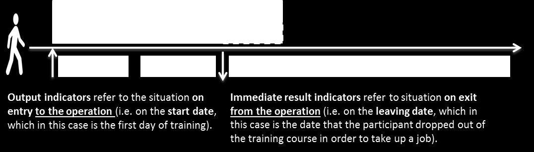 Example 13: Exit and return to the same operation A participant can only be counted once within an operation irrespective of the number of times that s/he joins or leaves the same operation.