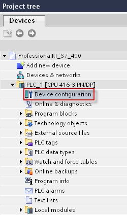 4.2.2 Configuration of CPU system diagnostic alarms The following chapter describes the configuration of the display of system diagnostic alarms of a CPU in WinCC Runtime Professional using the