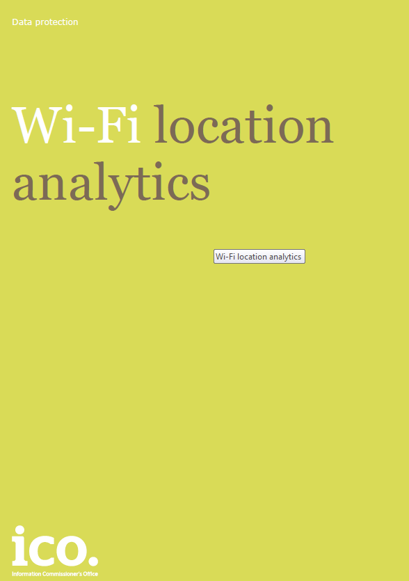 Wi-Fi location analytics How should be address the risks?