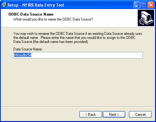 After successful installation, in the Configuration Tool's Advanced Tab, name the ODBC Data Source the same as it appears in the ODBC Data Source Administrator. 3.