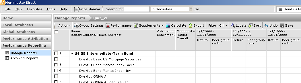Sample Output Creating an Investment Scorecard with Standardized Values Adding a scorecard to your report enables you to create a scoring metric based on a weighted combination of any set of