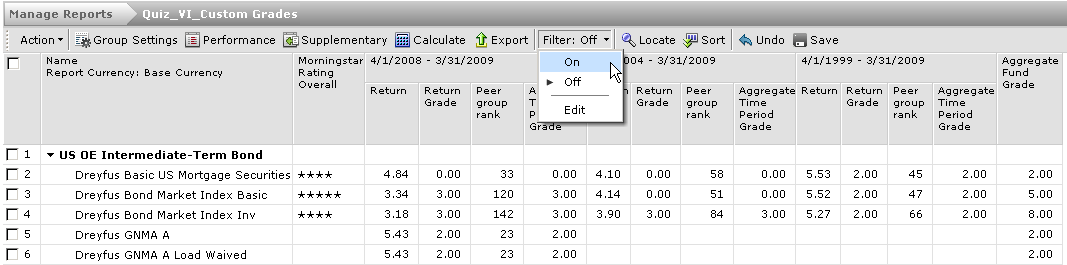 6. Press OK View weighted score based on custom grade.