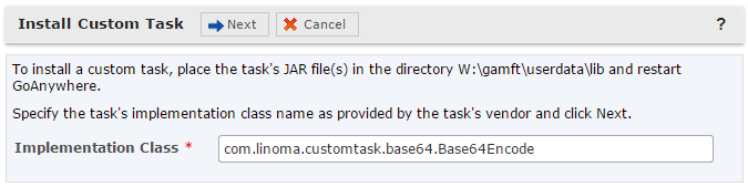 Custom Task Prerequisite Custom Task Prerequisite Customer's who have created Custom Tasks in GoAnywhere Director must re-install their custom task imports and extend the 'CustomTask' class after the