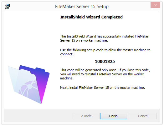 Chapter 3 Deploying FileMaker Server across multiple machines 30 12. Click Install.