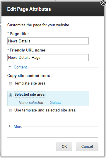New Feature Content Seeding Allows users to use their own custom content when creating pages not limited to the page template's default content Custom content can be used along with or replace page