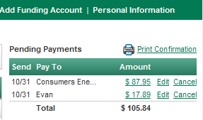 View Pending Payments: Once entered, you can view your pending payments before they are processed.