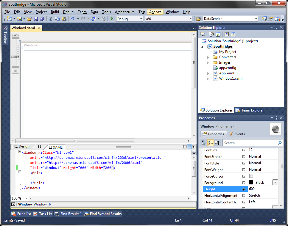 Figure 2 Updating Window1 Height and Width- Visual Basic 5.