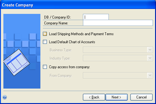 Create Company You will need to exit Microsoft Dynamics GP and log into the Dynamics GP Utilities.