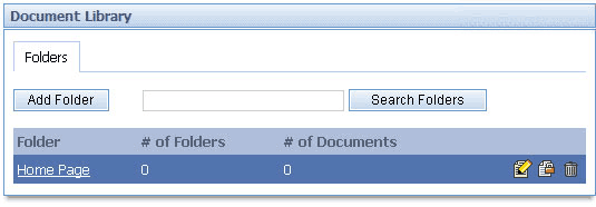 Content Management System The new folder will appear in the Document Library. To add a document to that folder, click on the folder name. 4.