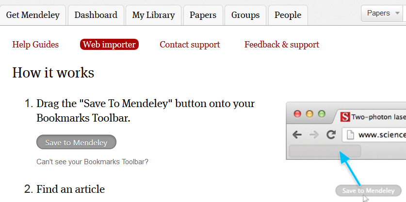 2. Right-click on the button and choose to add this link to your bookmarks.
