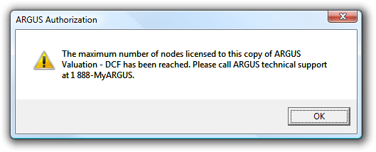 If you do not have an Internet connection and wish to authorize your copy over the phone, click the Phone button on the ARGUS License Key Check Out screen.