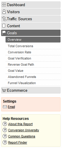 Goals and Conversions 5 This report will help you answer question 2A of your analytics survey. First set your date range for the previous full month.