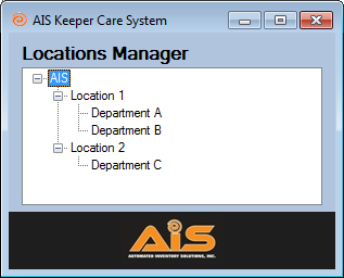 Keeper Care System Data Manager User Manual AIS 7 LOCATION MANAGER Before adding jobs to the Keeper Machines, you will need to add the various locations using the Keeper Machines.