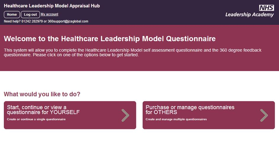 access to the hub you will have the option to start a questionnaire for