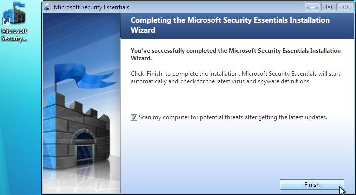 Microsoft Security Essentials does not play well with other antivirus programs and can make your system extremely unstable. You would have already done this at the beginning of these instructions.