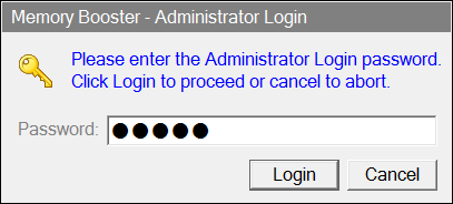 First you ll see the Title Screen. Click on the green Admin button. Enter the administrator s password when prompted.