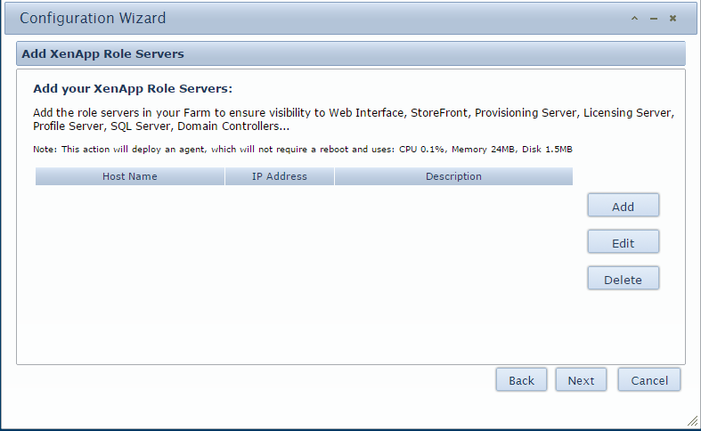 5. An Add XenApp Role Servers page will appear.