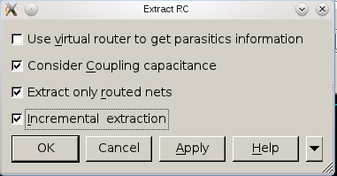 18. RC Extraction Click Route -> Extract RC Click ok. Generate power report report_power > icc_rpt/power.rpt 19. Generate output files for Post-Layout Timing Verification a.