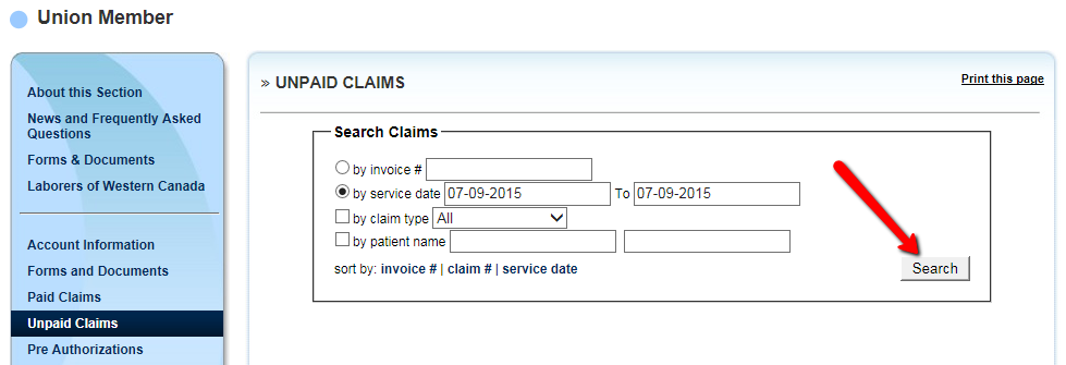 PAID CLAIMS The Paid Claims window lets you search specific claims that have already been received and paid by FAS.
