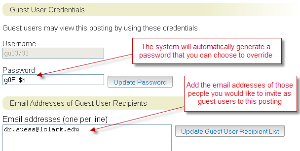 Adding a Guest User Account If you would like another person to have view only access to the applications for a posting, you can add them as a Guest User.