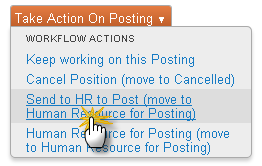 Submit the Posting Once your posting information looks complete, you can submit the posting to HR to post on the website.
