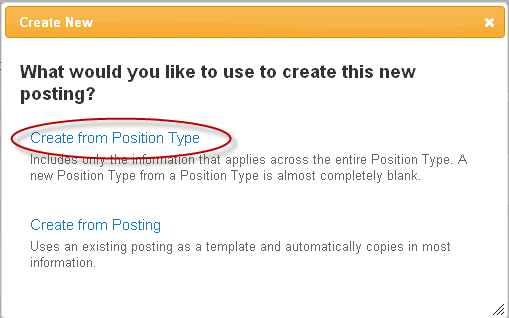 Create a Posting If you are on the PeopleAdmin Home page, Create New Student Position Posting from the Shortcuts menu Or use the drop-down Postings menu at the top to select Student Postion from