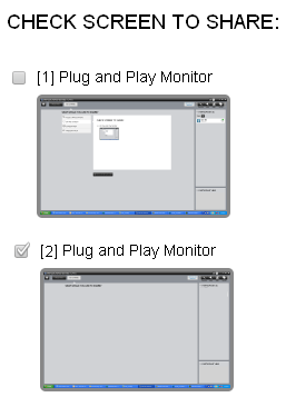 Meeting Client 3. If applicable, select the monitor you want to share Note Only one monitor can be shared at a time. 4.