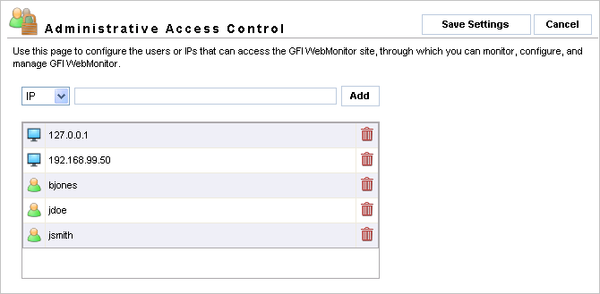 7 Configuring GFI WebMonitor 7.1 Introduction The Configuration node and its sub-nodes enable you to configure a default set of parameters used by the WebFilter and WebSecurity editions.