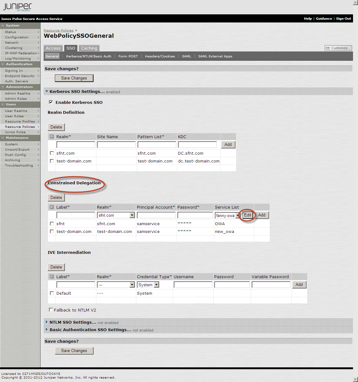 3. In the SA Administrator console, select Users > Resource