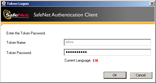 Running the Solution User Authentication Scenario In this example, a user named John authenticates to SA in the following environment: The user authenticates using a certificate saved on a token
