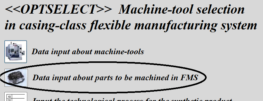 system and in this article the database is presented as a part of the system <<OPTSELECT>> which allows for computer aided machine tools selection for casing-class flexible manufacturing