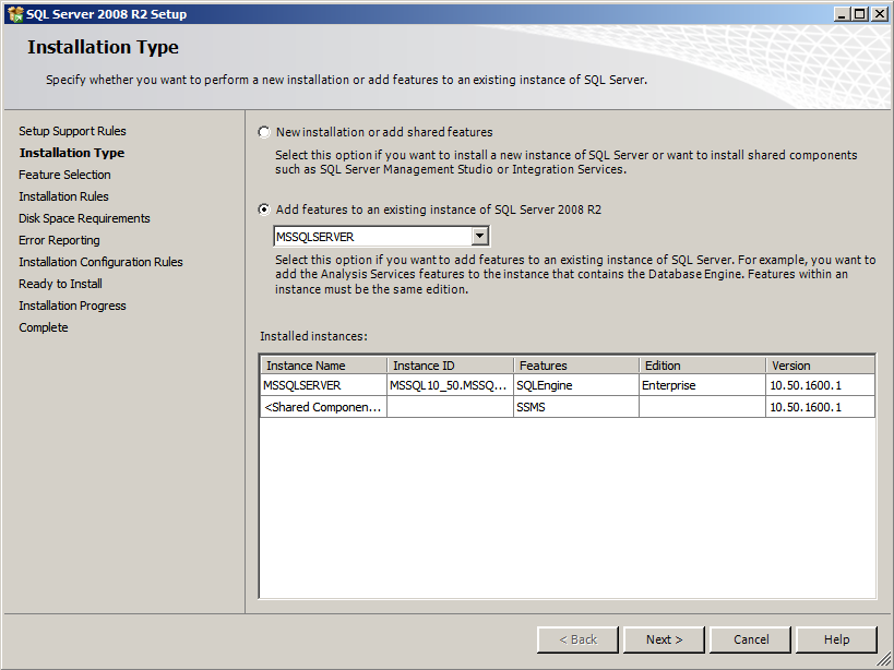Installing EMC SourceOne Reporting Figure 15 Installation Type 6. Click Next. 7.
