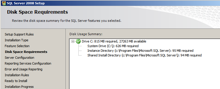 Installing EMC SourceOne Reporting Figure 16 Feature Selection - SQL Server 2008 8. Click Next. 9.