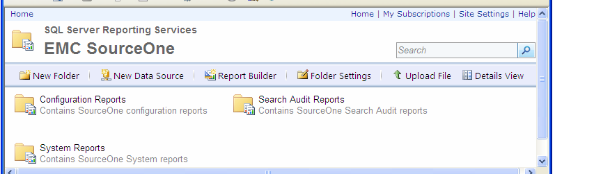Installing EMC SourceOne Reporting Figure 45 EMC SourceOne folder 4.