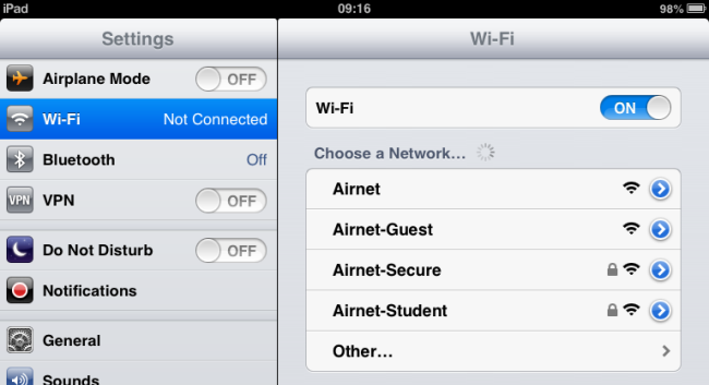 This is a student only network.