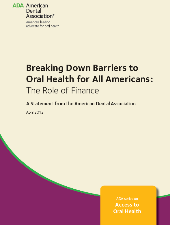 ADA Series on Access to Oral Health