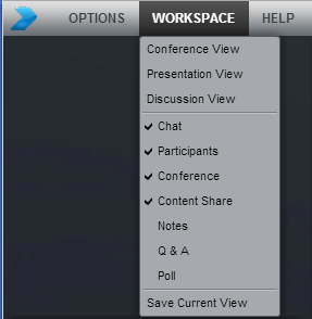 Clean up your workspace Quickly switch between your favorite views Conference View Select a