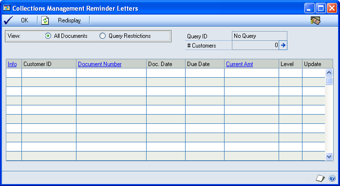 CHAPTER 4 COLLECTIONS DOCUMENTS AND LETTERS 3. Mark the Collate Letters and Documents option to collate the documents by customer at the printer.