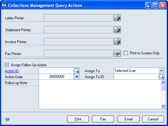 CHAPTER 4 COLLECTIONS DOCUMENTS AND LETTERS 11. You can change the Legend 2 (Title) field or accept the default position name from the Collections Management User Setup window.