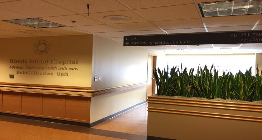 Rhode Island Hospital Inpatient Rehab Unit (IRU) We are located on the 7 th floor of the Main Building.
