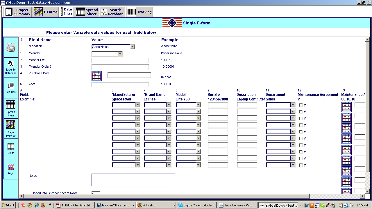 Software Screen Shots The AIMS Asset Identification and Management System is configured to the exacting requirements of each customer.