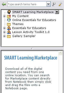 SMART Notebook software training for SMART Board users level 1 learner workbook Online resources Click the SMART Learning Marketplace or Online Essentials for Educators to access additional Gallery