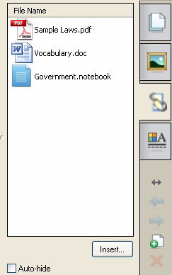 Basics for Notebook software Attachments tab Make your presentations and lessons more cohesive.