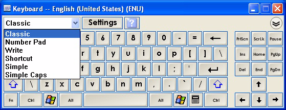 Getting started The On-Screen Keyboard This on-screen, virtual keyboard eliminates the need for an attached physical keyboard, as you can use its many views to enter typed text.