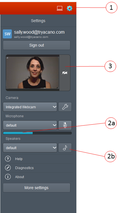 Overview Selecting preferences: Adding devices: If you have multiple devices that you can use to join a cospace, or if you want to transfer the video from your computer to a video system, then refer