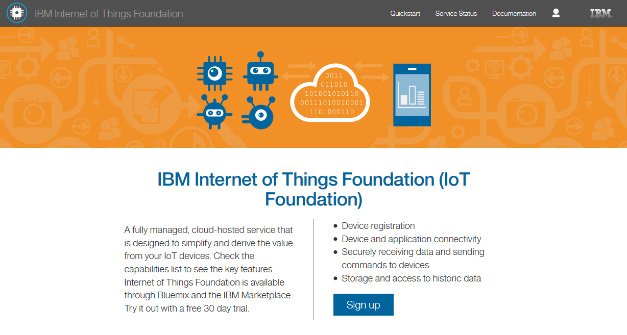 IBM Internet of Things Foundation A fully managed,